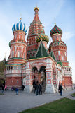 Cathedral of Vasily the Blessed on Red Square in Moscow, Russia Stock Images
