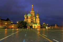 Saint Basil`s Cathedral stock photos