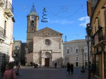 Cathedral of Vasto in Italy in the Christmas period. royalty free stock image