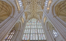 Cathedral vaulting. The vaulting at Winchester Cathedral in Winchester, England Stock Image