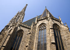 Cathedral of Vienna. St. Stephen's Cathedral in Vienna royalty free stock images