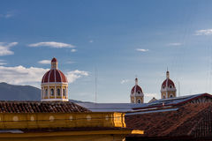 Cathedral view from granada, Nicaragua Stock Images