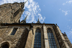 Cathedral. View of the cathedral tower Royalty Free Stock Photography