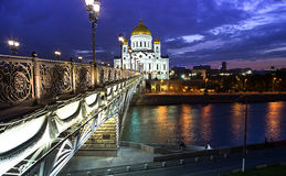 Cathedral view in twilight. Moscow royalty free stock photos