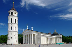 Cathedral of Vilnius. Tower and Cathedral in Old Town of Vilnius, Lithuania, Central Europe Stock Photo