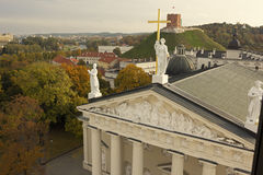 The Cathedral of Vilnius in autumn Stock Images