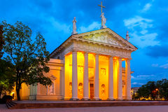 Cathedral of Vilnius in the evening, Lithuania. Royalty Free Stock Photos
