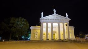 Cathedral in Vilnius, Lithuania, time-lapse stock footage