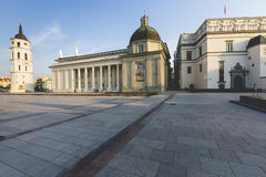 The Cathedral of Vilnius is the main Roman Catholic Cathedral of Royalty Free Stock Photography