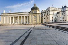 The Cathedral of Vilnius is the main Roman Catholic Cathedral of Stock Images