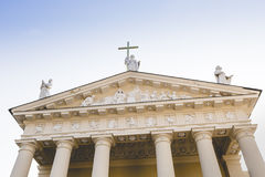 The Cathedral of Vilnius is the main Roman Catholic Cathedral of Royalty Free Stock Image