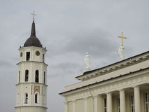 Cathedral of Vilnius stock photography