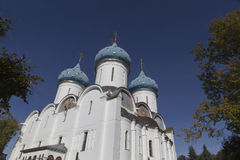 Cathedral of the virgin mary in sam sergei abbey,russian federation stock image