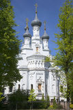 The Cathedral of the Vladimir icon of the Mother of God may afternoon. Kronstadt Stock Photo