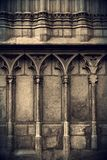 Cathedral wall. Facade of Cathedral, Barcelona, Spain Stock Photography