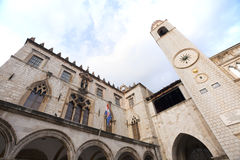 Cathedral in Walled city of Dubrovnic Stock Photography