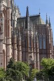 Gothic cathedral detail in sunny day Royalty Free Stock Photo