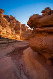 Cathedral Wash Trail in Arizona. Cathedral Wash Hiking Trail in Arizona Stock Photos