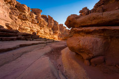 Cathedral Wash Trail in Arizona. Cathedral Wash Hiking Trail in Arizona Royalty Free Stock Image