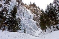 The Cathedral waterfall at Serrai di Sottoguda in Rocca Pietore, Italy. Royalty Free Stock Photo