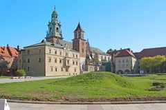 Cathedral of Wawel Castle in Krakow. KRAKOW, POLAND - APRIL 29, 2012: This is a view of the Cathedral of Wawel Castle Stock Photo