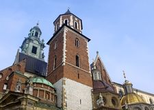 Cathedral at Wawel hill Stock Photography