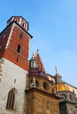 Cathedral at Wawel hill royalty free stock images