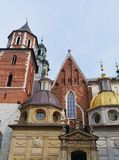 The cathedral of the Wawel hill Stock Images