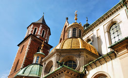 Cathedral at Wawel hill in Cracow Royalty Free Stock Photography