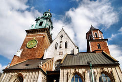Cathedral at Wawel hill in Cracow Stock Photos
