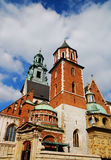 Cathedral at Wawel hill in Cracow Stock Image