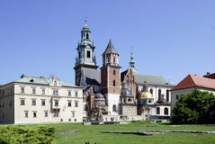 Cathedral at Wawel Hill of Krakow in Poland Royalty Free Stock Image