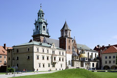 Cathedral at Wawel Hill of Krakow in Poland Royalty Free Stock Images