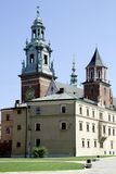 Cathedral at Wawel Hill of Krakow in Poland Stock Photos
