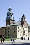 Cathedral at Wawel Hill of Krakow in Poland Stock Photo