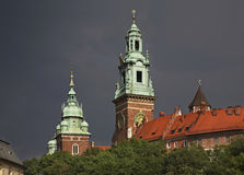 Cathedral in Wawel in Krakow. Poland Royalty Free Stock Photo