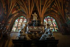 Cathedral of Wawel, the part of Wawel Castle complex Stock Image