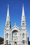 Cathedral in white. White spires of saint bouprè cathedral in canada Royalty Free Stock Photo