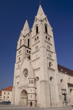 Cathedral in Wiener Neustadt Austria. Late romanesque cathedral in Wiener Neustadt Austria Stock Photos