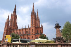 Cathedral in Wiesbaden Stock Photography