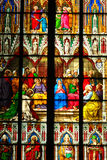 Cathedral window. Colorful church window stock photography