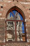 Cathedral in a window - Siena Royalty Free Stock Images