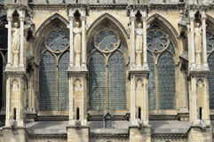 Cathedral windows and buttresses, reims Royalty Free Stock Image