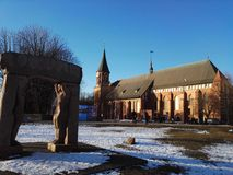 Cathedral in Winter Royalty Free Stock Image