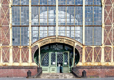Cathedral Of Work. Entrance to the machine shop of a coal mine built in the style of art nouveau at Dortmund/ zollern mine Royalty Free Stock Images