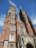 Cathedral in Wroclaw Stock Photo
