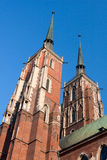 Cathedral of Wroclaw, Poland Stock Image