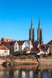 Cathedral of Wroclaw. Riverside view on Cathedral of Wroclaw. Poland Royalty Free Stock Photography