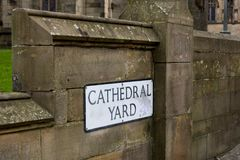 Cathedral Yard Royalty Free Stock Photography