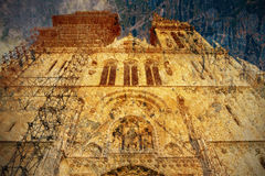 Cathedral in Zagreb. Picture in artistic retro style Royalty Free Stock Photo
